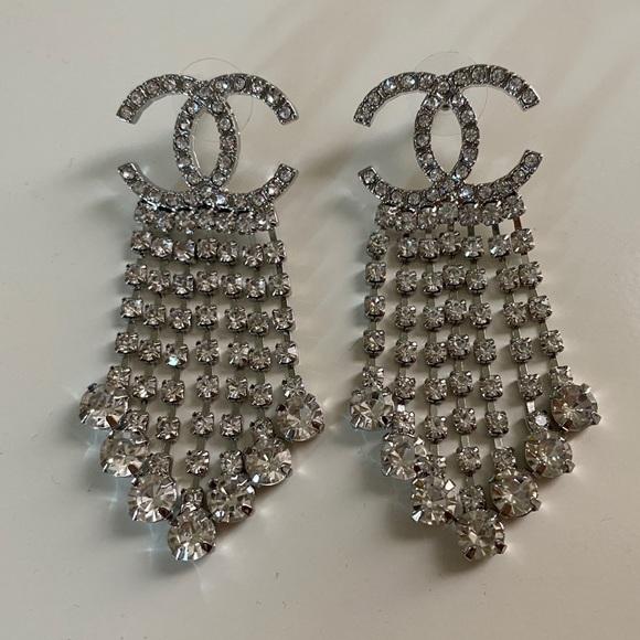 Chanel Crystal Statement Earrings